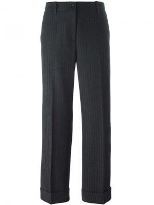 Жаккардовые брюки Alberto Biani. Цвет: серый