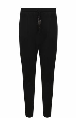 Хлопковые зауженные брюки Damir Doma. Цвет: черный