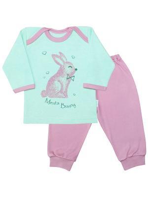 Пижама Веселый малыш. Цвет: светло-зеленый,розовый