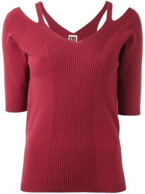 Трикотажная блузка с вырезными деталями IM Isola Marras I'M. Цвет: красный