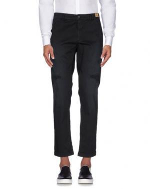 Повседневные брюки MONOCROM. Цвет: черный