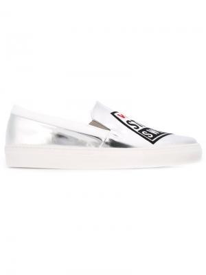 Кеды-слипон Vision Street Wear x Swear. Цвет: металлический
