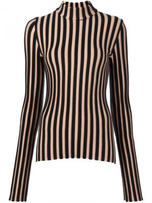 Полосатый свитер в рубчик Edun. Цвет: чёрный