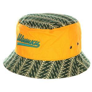 Панама  Шишки Yellow/Green Запорожец. Цвет: зеленый,желтый