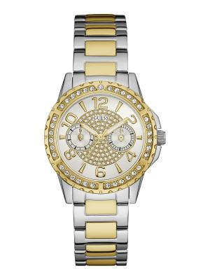 Часы GUESS. Цвет: серебристый, желтый, золотистый