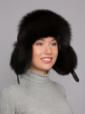 Шапка Slava Furs. Цвет: черный