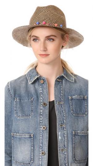 Плетеная шляпа Clasico Artesano. Цвет: черный/белый/мульти