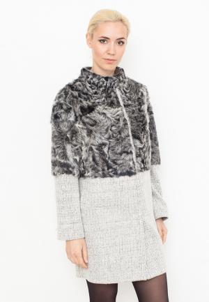 Пальто Prima Woman. Цвет: серый