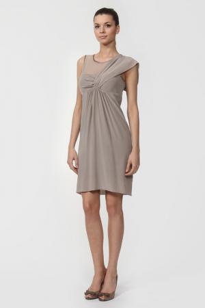 Платье D.Exterior. Цвет: бежевый