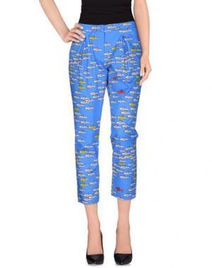 Повседневные брюки 10X10 ANITALIANTHEORY. Цвет: ярко-синий