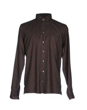 Pубашка RICHARD JAMES. Цвет: темно-коричневый