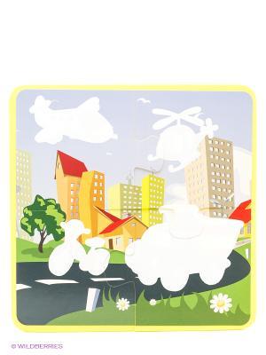 В городе: водораскраски-пазлы Феникс-Премьер. Цвет: белый
