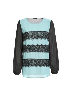 Блузка APART. Цвет: черный, бирюзовый