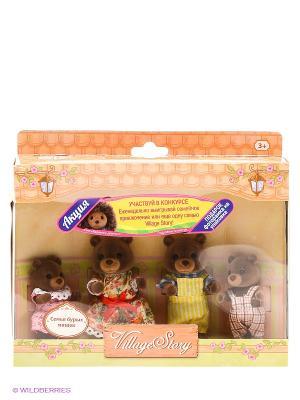 Семья бурых мишек Gulliver. Цвет: коричневый