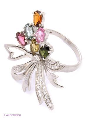 Кольцо BALEX. Цвет: серебристый, розовый, зеленый