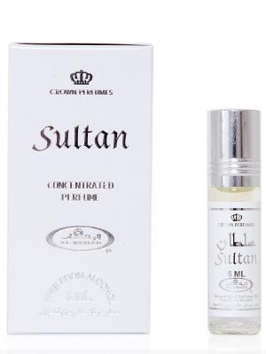Арабские масляные духи Султан (Sultan), 6 мл Al Rehab. Цвет: серый меланж, белый
