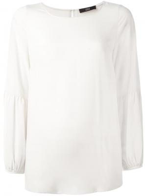 Блузка с круглым вырезом Steffen Schraut. Цвет: серый