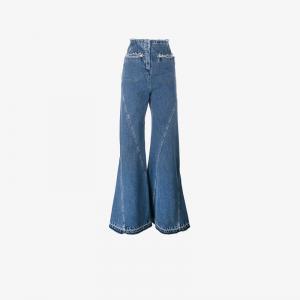 Расклешенные джинсы с завышенной талией Esteban Cortazar. Цвет: синий
