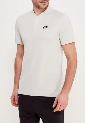 Футболка Nike. Цвет: бежевый