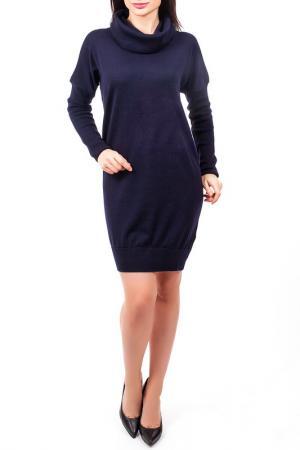 Платье, хомут EUROPEAN CULTURE. Цвет: темно-синий