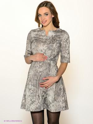 Платье I love mum. Цвет: серый, бежевый