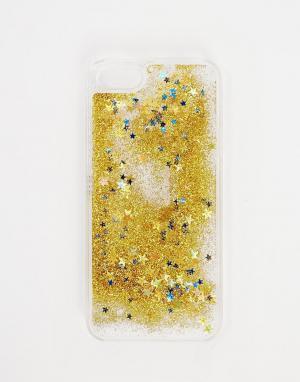 Skinnydip Золотистый чехол для iPhone 5/5S с блестками. Цвет: золотой