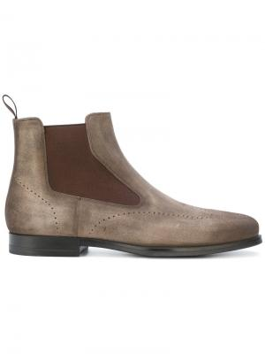 Elasticated panel ankle boots Santoni. Цвет: телесный