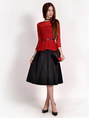 Блузка FRANCESCA LUCINI. Цвет: красный