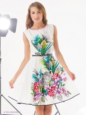 Платье Rene Derhy. Цвет: молочный