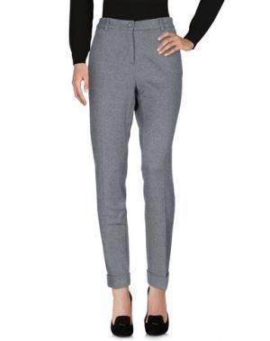 Повседневные брюки GIGUE. Цвет: серый