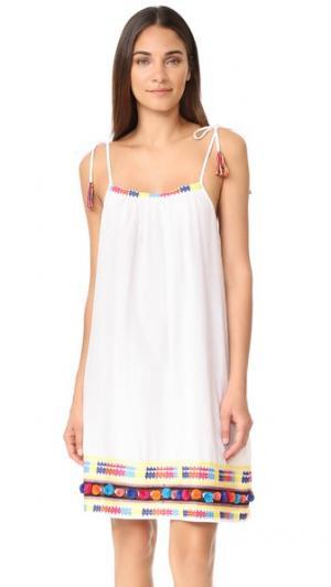 Платье без рукавов Coba Christophe Sauvat Collection. Цвет: белый