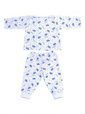 Детская пижама Добрый Кот. Цвет: белый, голубой