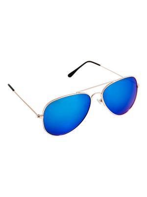 Солнцезащитные очки Kameo-bis. Цвет: синий, золотистый, черный
