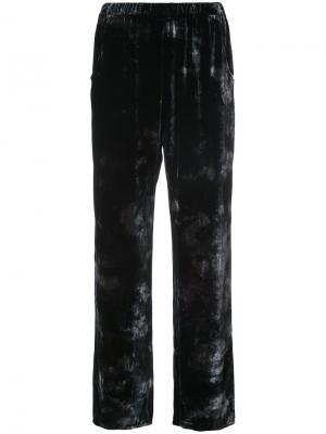 Бархатные брюки Raquel Allegra. Цвет: чёрный