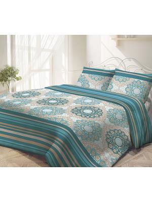 Комплект постельного белья, Восток-Запад Волшебная ночь. Цвет: бирюзовый, бежевый