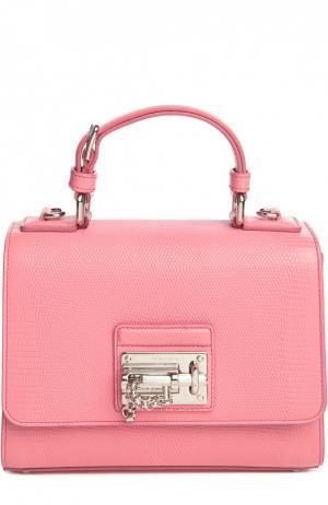 Сумка Monica с зеркалом Dolce & Gabbana. Цвет: светло-розовый