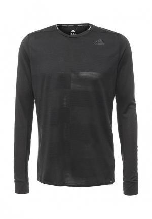 Лонгслив спортивный adidas Performance. Цвет: черный