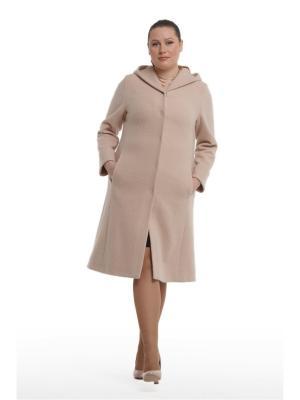 Демисезонное пальто Лилия OTTIMO. Цвет: рыжий