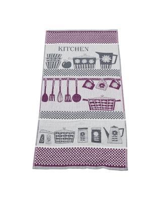 Набор полотенец пестротканных 30х70 Kitchen Авангард. Цвет: фиолетовый