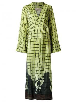 Платье в пол Adriana Degreas. Цвет: зелёный