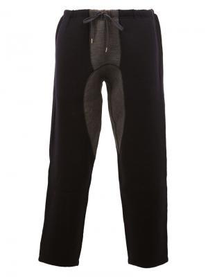 Укороченные брюки Kolor. Цвет: синий
