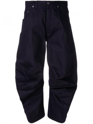 Байкерские брюки Chalayan. Цвет: синий