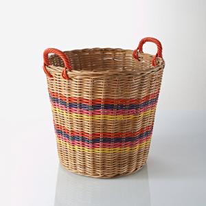 Круглая плетеная корзина Éliota La Redoute Interieurs. Цвет: разноцветный