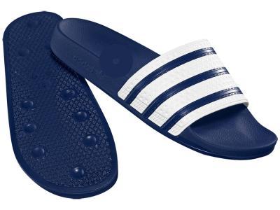 Шлепанцы Adidas. Цвет: темно-синий