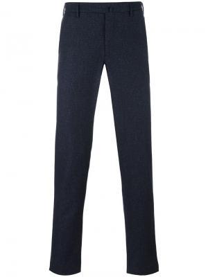 Зауженные брюки прямого кроя Incotex. Цвет: синий