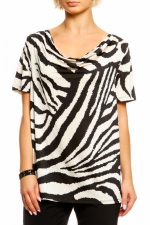 Блуза SEVENTY. Цвет: черно-бежевый
