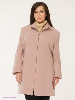 Пальто Gemko plus size. Цвет: бледно-розовый