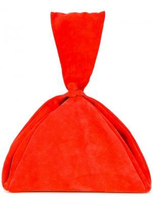 Драпированный клатч Isa Arfen. Цвет: жёлтый и оранжевый