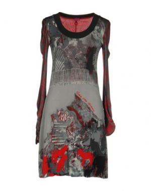 Короткое платье SAVE THE QUEEN. Цвет: светло-серый
