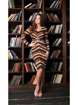 Платье Fashion.Love.Story.. Цвет: коричневый